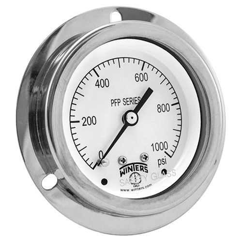 PFP PREMIUM STAINLESS STEEL LIQUID FILLED PRESSURE GAUGE FOR PANEL MOUNTING Image