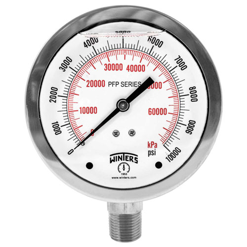 PFP PREMIUM STAINLESS STEEL LIQUID FILLED PRESSURE GAUGE Image