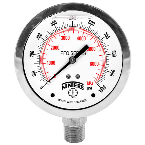 PFQ STAINLESS STEEL LIQUID FILLED PRESSURE GAUGE / PFQ-LF LEAD FREE SS LIQUID FILLED PRESSURE GAUGE Image